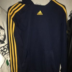 Adidas baby blue yellow detailed pullover